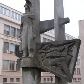 Sculpture de l'école des mines de Nancy