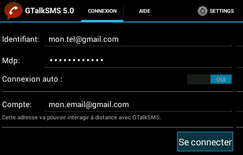 GTalkSMS-Settings